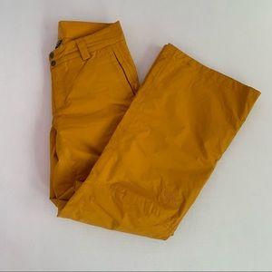 Yellow north face pants